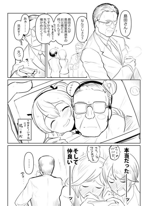 ガールズ&パンツァー 島田愛里寿と父親 漫画